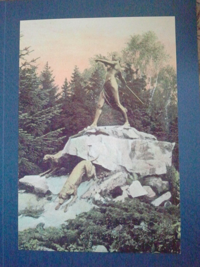 Przedruk pocztówki z boginią Dianą