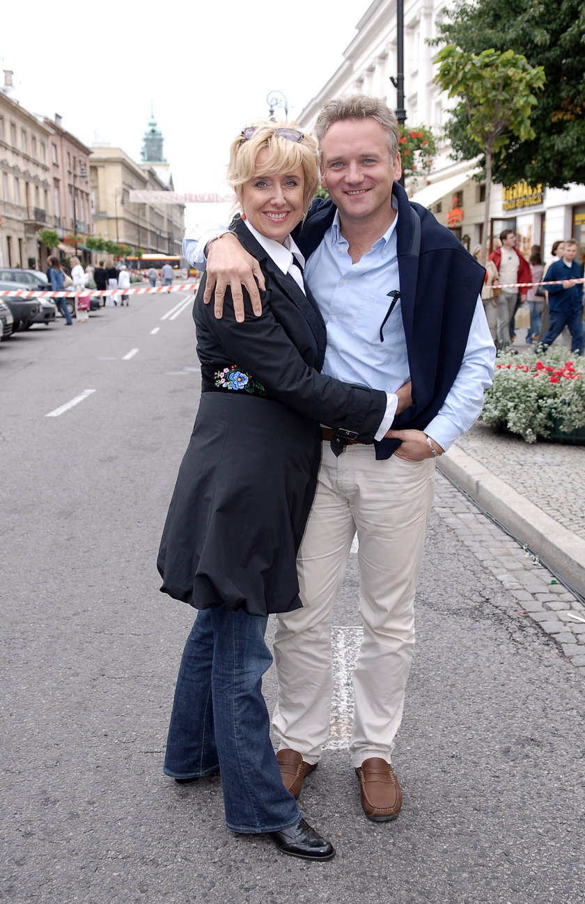 Jarosław Kret i Agata Młynarska