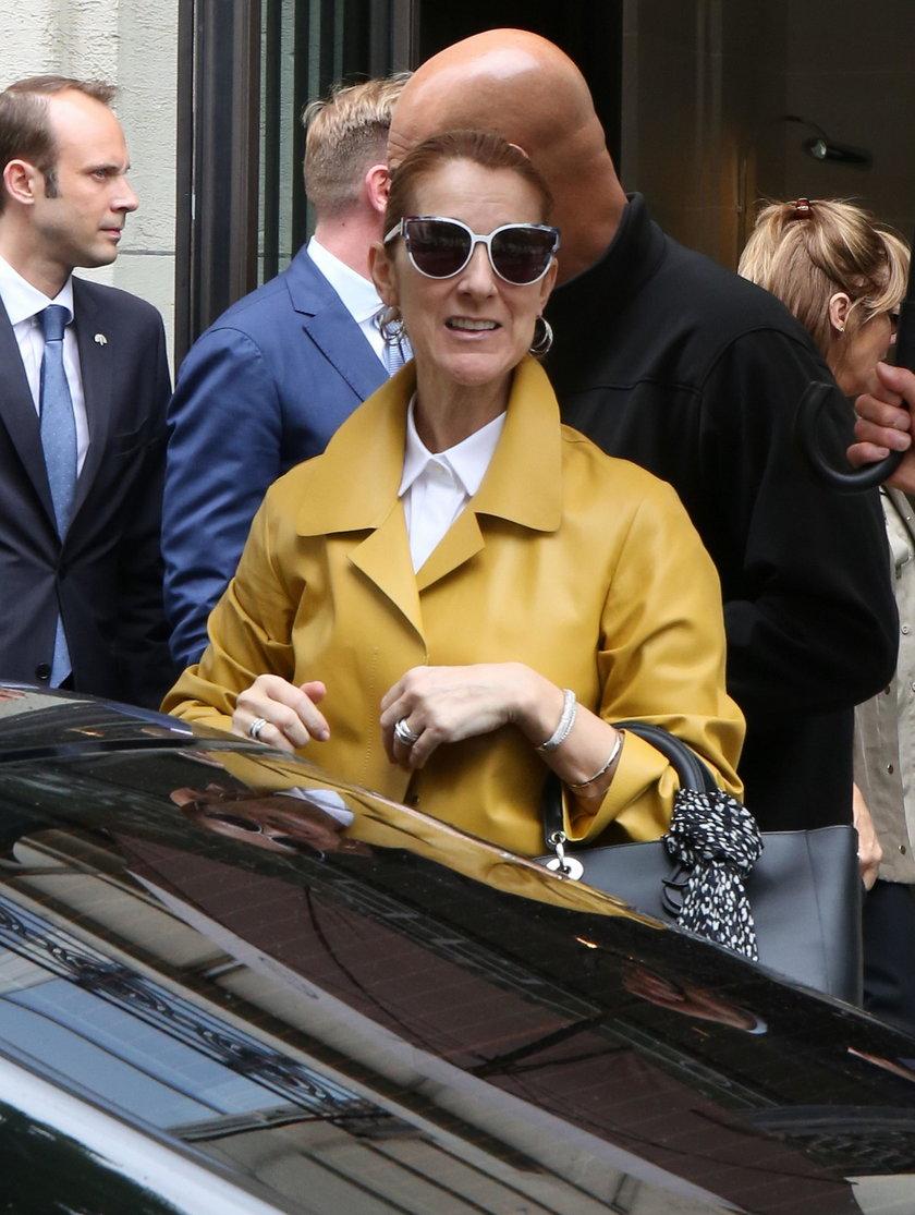 Celine Dion pod hotelem w Paryżu