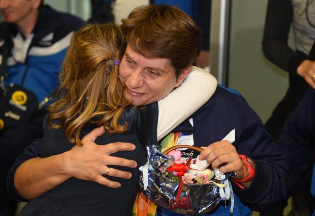 Borislava Perić sa ćerkom