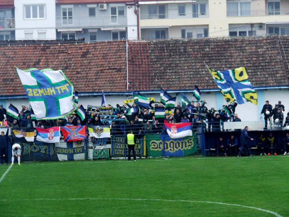 Navijači FK Zemun - Taurunum bojs
