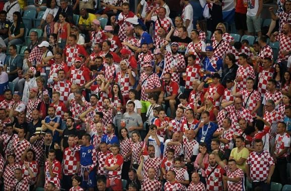 Hrvatski navijači na meču sa Rusijom