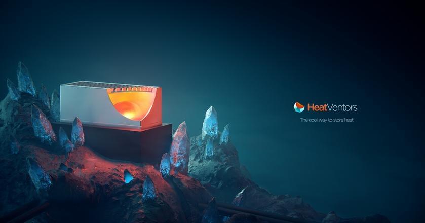 Firma HeatVentors przygotowała zbiornik HeatTank wykorzystujący materiały zmiennofazowe do przechowywania energii