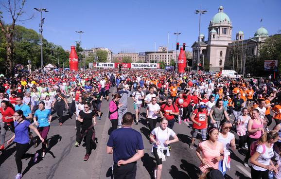 Beogradski maraton je zatvorio pola grada