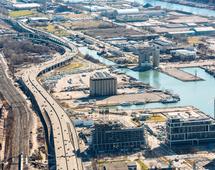 Widok na nabrzeże Toronto, gdzie ma powstać osiedle Quayside