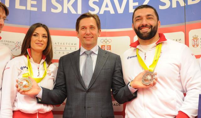 Ivana Španović, Veselin Jevrosimović i Asmir Kolašinac