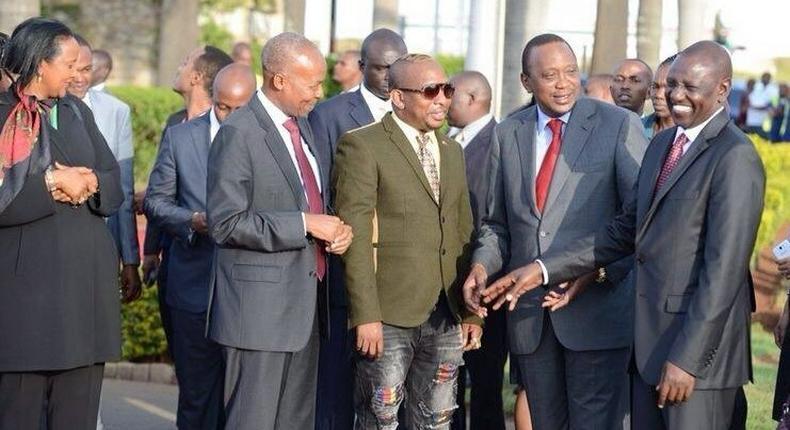 President Uhuru Kenyatta, his deputy William Ruto and Senator Mike Sonko