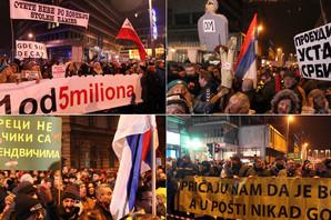 """ZAVRŠENA ŠETNJA """"1 OD 5 MILIONA"""" Okupljeni poručili: Protest će postati lavina koju niko neće moći da zaustavi (VIDEO)"""