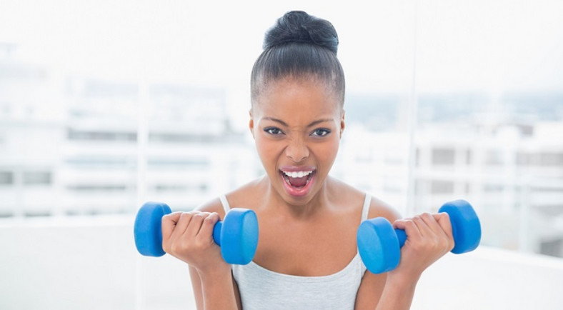 Lifting weights can help you put on weight and get fit too