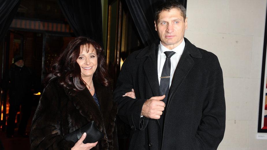 Andrzej Gołota z żoną Mariolą