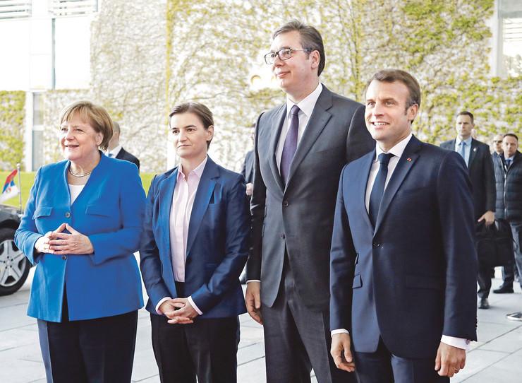 Makron Vučić Brnabić Merkel