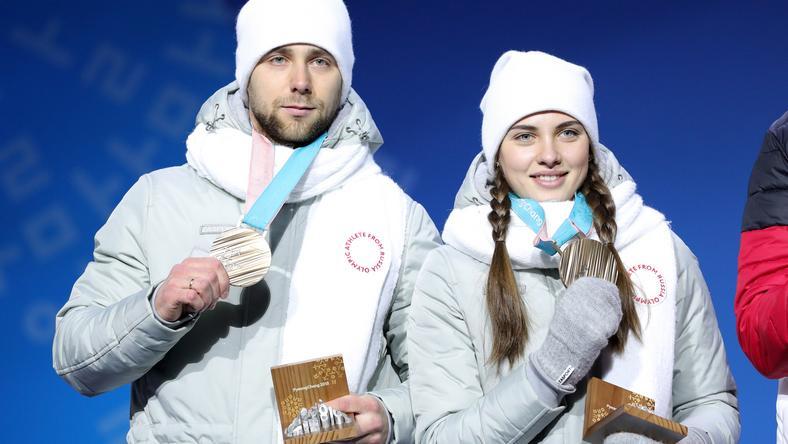 Aleksandr Kruszelnicki (L) i Anastasija Bryzgałowa