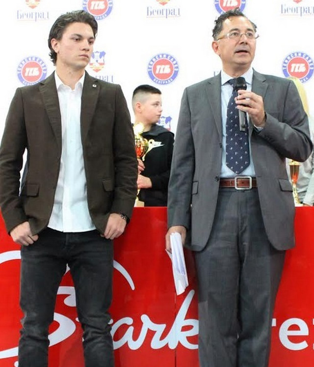 Miomir Kecmanović i predsednik Teniskog saveza Beograda Milan Slavković