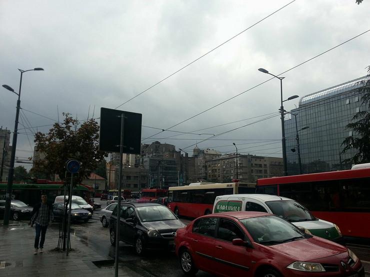 Kiša je već uzrokovala kolaps na Slaviji