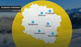 Prognoza pogody dla woj. kujawsko-pomorskiego - 23.01