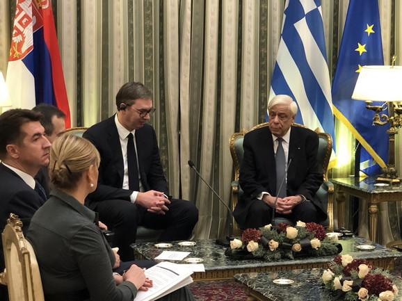 Vučić u zvaničnoj poseti Grčkoj