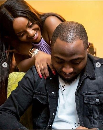 Davido all loved up with Chioma