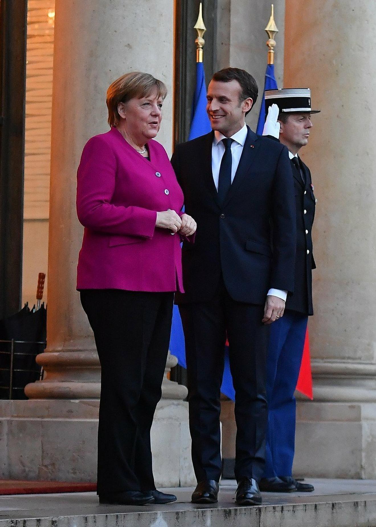 Angela Merkel nedavno u Parizu