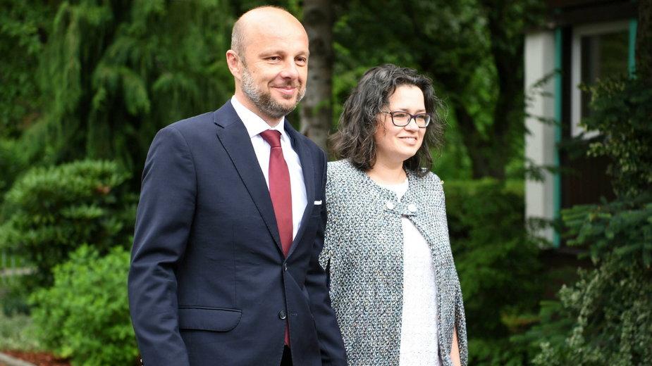 Konrad Fijołek z żoną Magdaleną