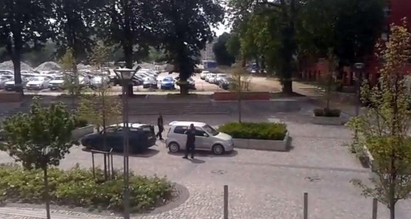 strażnicy miejscy z Gdańska zakładali blokady