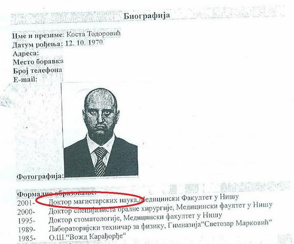 Biografija Koste Todorovića (kliknite na sliku za uvećanje +)