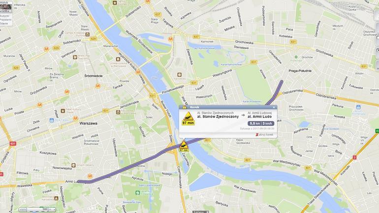 Rekordowy korek na skutek protestu taksówkarzy