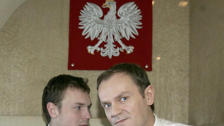 Michał Tusk z ojcem