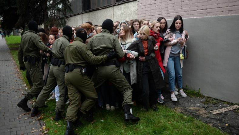 Protest opozycji w Mińsku