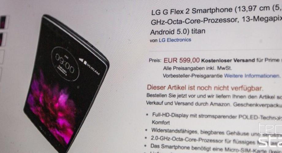599 Euro: LG G Flex2 bereits bei Amazon vorbestellbar
