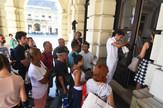 Novi Sad385 stanari ciji su stanovi sruseni u Dositejevoj ulici na sastanku sa gradonacelnikom foto Nenad Mihajlovic