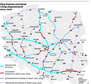 Nowak wpompuje miliardy w drogi. Które autostrady powstaną w latach 2014–2020?