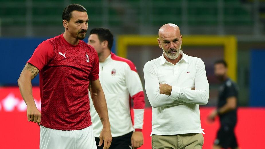 Zlatan Ibrahimovic i Stefano Pioli