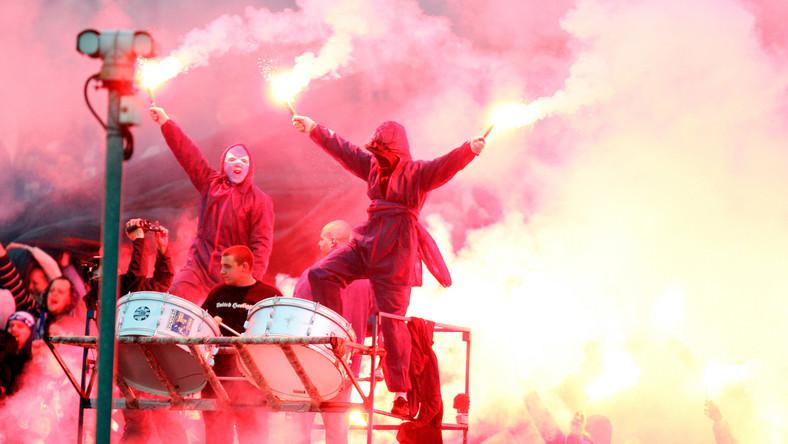 Polscy kibole w akcji
