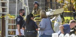Samolot spadł na dom. Kobieta i dziewczynka zginęły w płomieniach