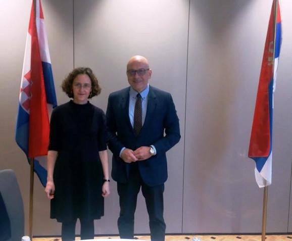 Vladan Vukosavljević i Nina Obuljen Koržinek u jednom od ranijih susreta
