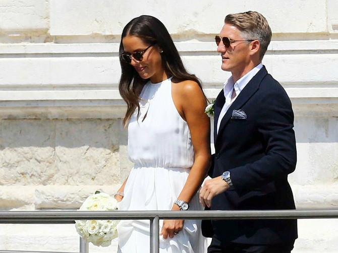 Ana Ivanović i Bastijan Švajnštajgner na venčanju u Veneciji