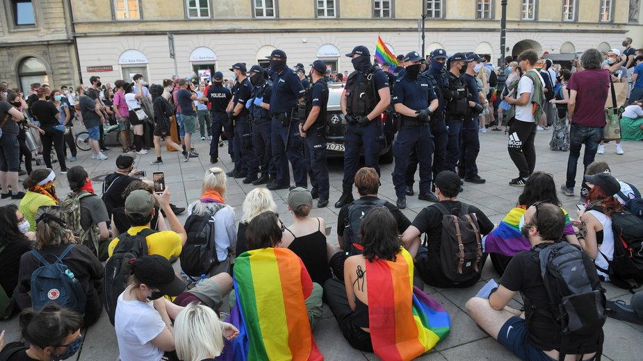 Piątkowy protest aktywistów LGBT