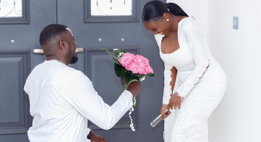 John Dumelo and wife, Gifty Mawunya