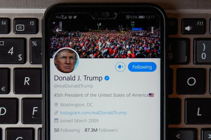 Trampov profil na Tviteru
