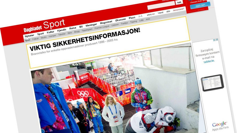"Kamil Stoch na zdjęciu fotografa gazety ""Dagbladet"""