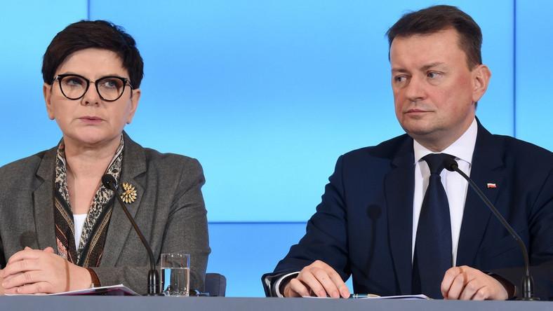 Beata Szydło i Mariusz Błaszczak