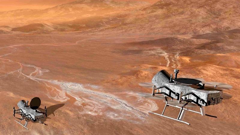 Dragonfly - zaawansowany dron zbada jeden z księżyców Saturna