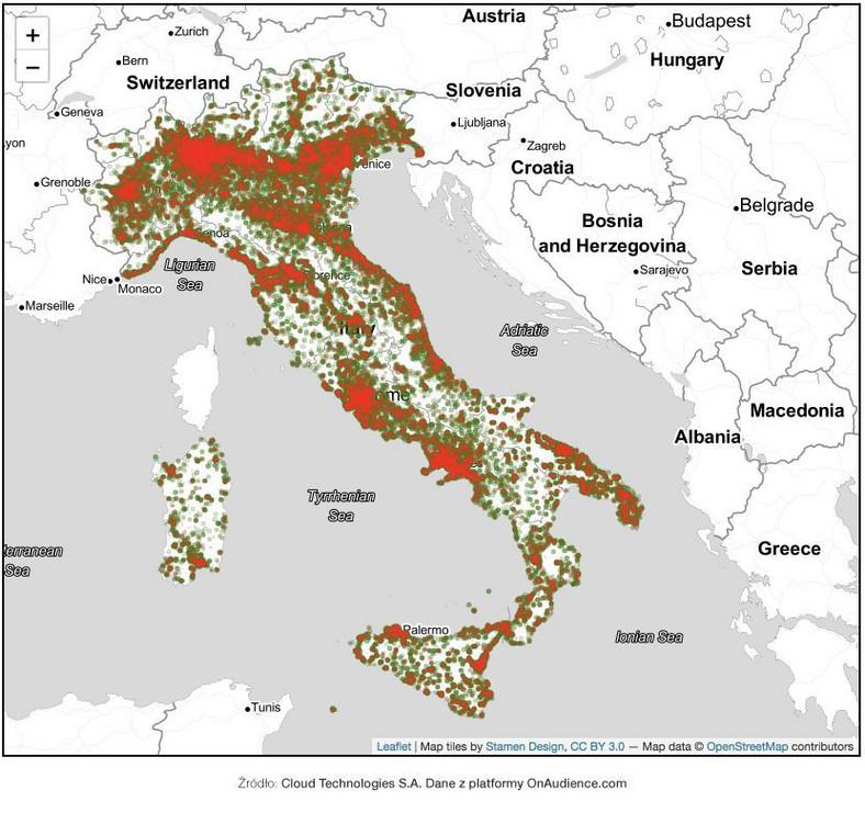 Włochy mapa 2
