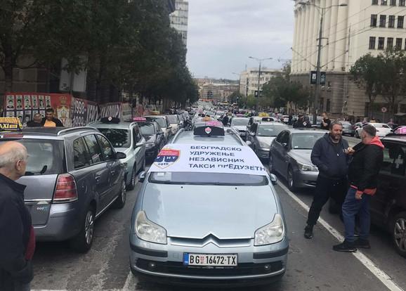 Protest taksista, deveti dan
