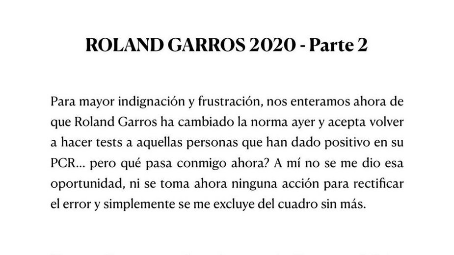 Koronawirus - zmiana protokołu sanitarnego Roland Garros