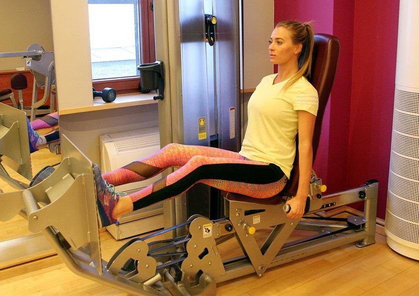 Marcelina Zawadzka na siłowni