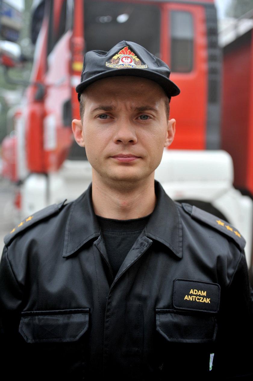 Adam Antczak, rzecznik PSP w Łodzi