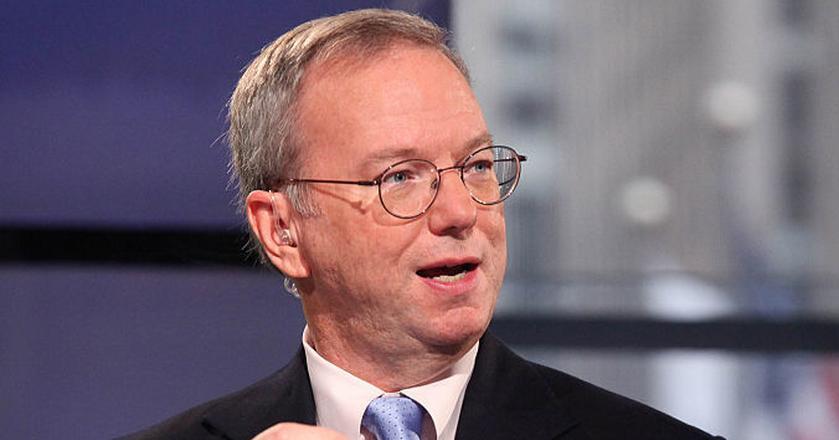 Eric Schmidt, prezes zarządu Alphabetu - spółki-matki Google'a