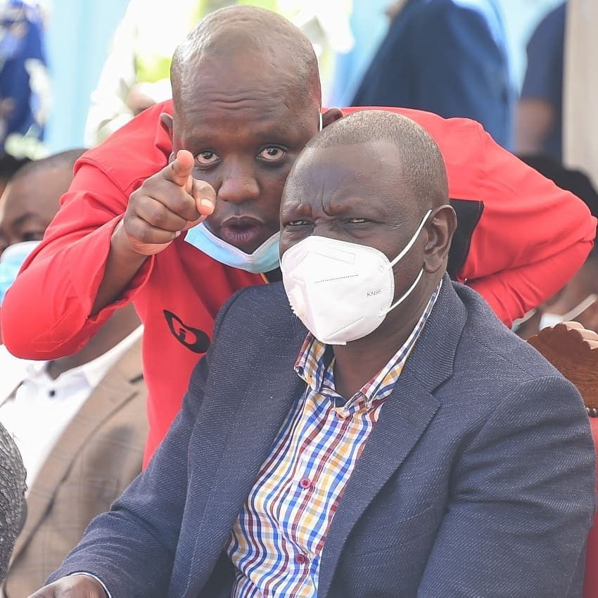 Blogger Dennis Itumbi and Deputy President William Ruto