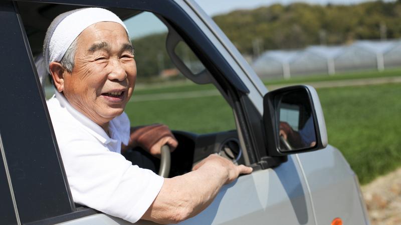 Japoński senior za kierownicą